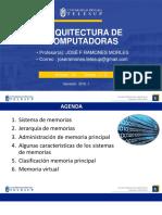 Clases Arquitectura de Computadoras Prof Jose Ramones u3