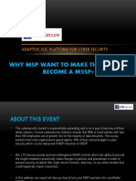 Why MSP Want to Make the Shift to Become a MSSP