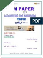 Accounting Term Paer Abhishek