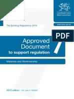 Materials and Workmanship Regulation 7