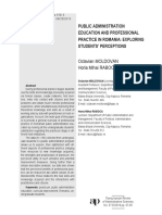 PUBLIC ADMINISTRATION EDUCATION AND PROFESSIONAL PRACTICE IN ROMANIA