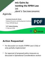 NEDA & POPCOM_Early Economic Gains from Full RPRP Law Implementation_5 Feb 2018_rev2.pptx