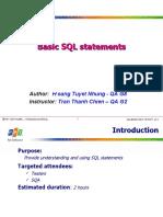 Basic SQL StatementsChienTT
