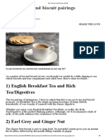 English Best Tea and Biscuit Pairings