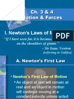 Ch. 3 & 4 MOTION & FORCE