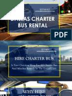 Dallas Charter Bus Rentals