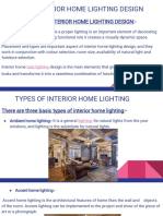 Basic of Interior Home Lighting Design