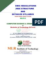 b.tech Cse Mlr16