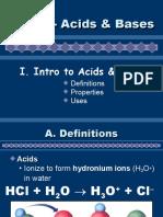 Ch. 17 Acids & Base