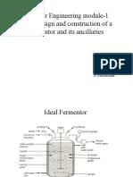 Design of Fermentor