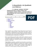 Variações da Quantidade e da Qualidade dos Recursos Hídricos