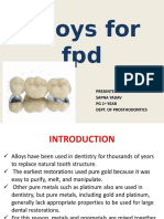 Alloys for Fpd