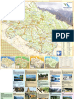 Tourist map of uttarakhand, India