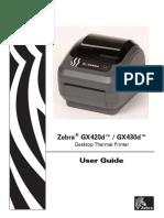 Manual Impresora Zebra Gx420d Gx430d