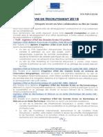 Avis de Recrute Ment 201822