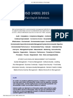 ISO 14001 2015 Definitions in Plain English