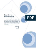 Interview in Legal Research