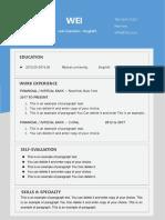 1Minimalist Blue Resume for Designer-WPS Office