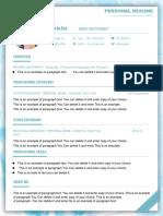 2Fresh Blue Resume-WPS Office