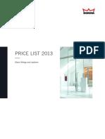 Glass Price List 2013 ENG