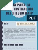 GUÍA PARA LA ADMINISTRACIÓN DEL RIESGO DAFP
