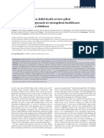 The South African Child Death Review Pilot