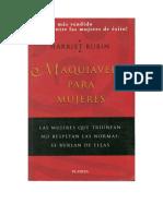 Rubin, Harriet - Maquiavelo para Mujeres [doc].docx