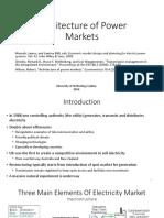 Architecture of Power Markets PPT (Sergey Alexeev)
