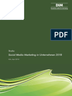 DIM Kurzzusammenfassung Studie Social Media Marketing 2018 April 2018