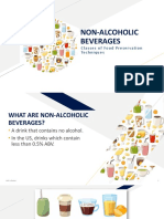 Classes of Food Preservation Non-Alcoholic Beverages