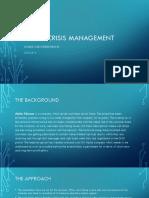 Brand Crisi Management Example