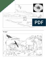 Láminas de Hábitat Terrestres y Acuáticos_para pintar