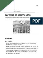 Safe Use of Safety Nets Worksafe Construction