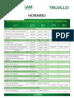 Horario Diplomado de Monitoreo de La Calidad Ambiental 2019 - Trujillo