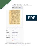 Declaración de Independencia Del Perú 1209