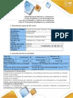 Guía de actividades y rubrica de evaluación - Fase 5 - Propuesta Inteligencia y creatividad (1).pdf