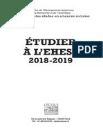 EHESS Livret 2018 2019 Interieur