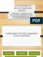 2019 Summer in-service Training (Inset)