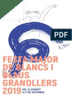 Programa Festa Major de Granollers 2019