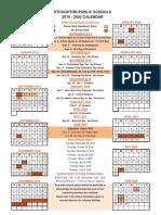 Stoughton 2019-20 School Calendar