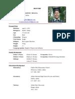 Resume Mark Philip Besana