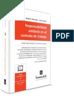Responsabilidad Solidaria en El Contrato de Trabajo. 2016. Hierrezuelo. Nuñez