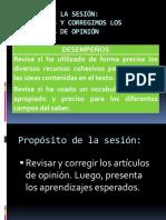 5 COM3-U3-SESION 05 Revisam y corregim los artícs de opinión.pptx