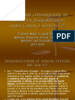 16. Affinity [Canon 3 Section 5(f)] as a Basis for Disqualification