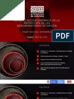 Impactos Denominaciones de Origen en Colombia