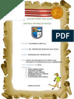 Indice de Madurez de Una Mezcla de Concreto y Su Resistencia Ala Comprension