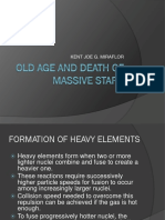 Old Age and Death of Massive Stars