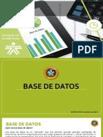Presentacion Sobre La Base de Datos