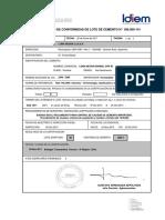 certificado de cemento
