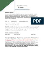 english ii survival sheet